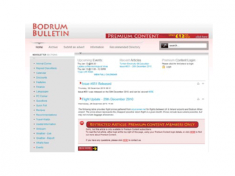 Bodrum Bulletin Website Design – January 2009
