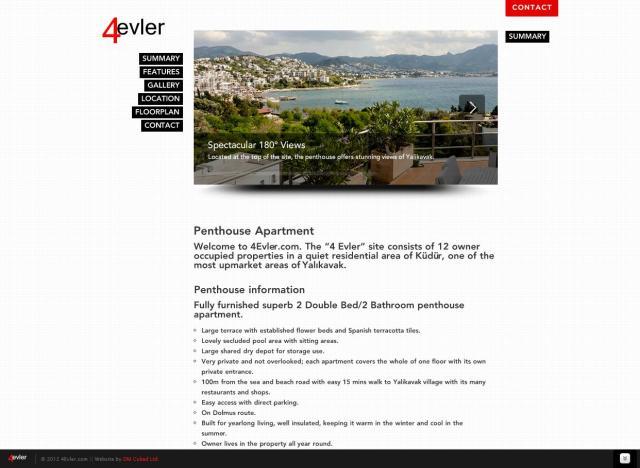 4evler Website Design – April 2012