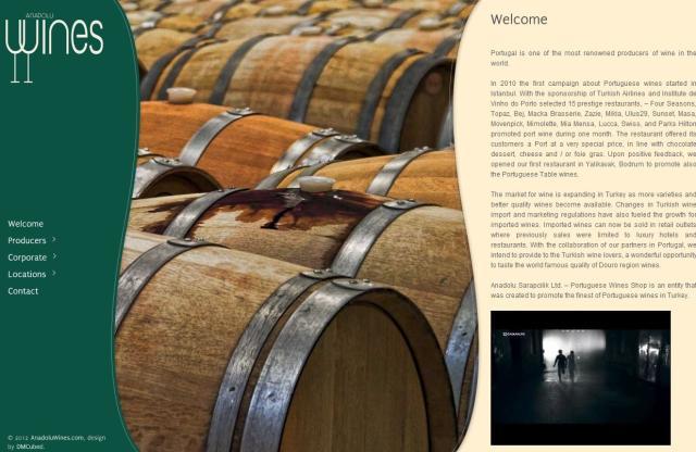Anadoluwines Website Design – December 2011