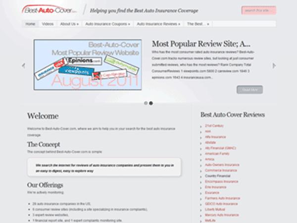 Best-Auto-Cover Website Design – August 2011
