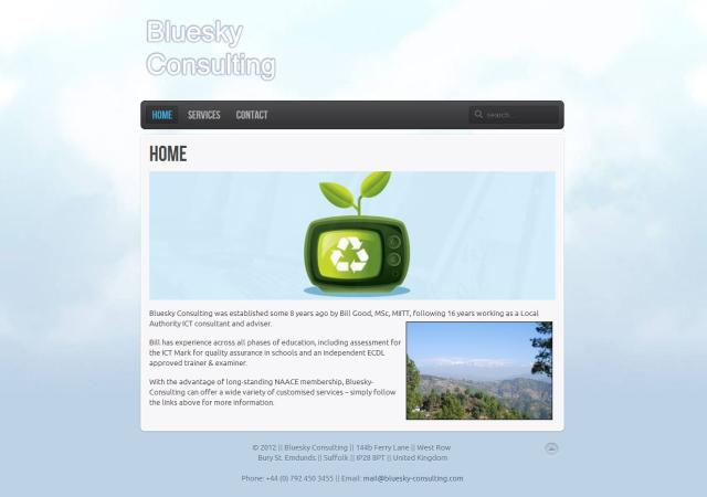 Bluesky-Consulting Website Redesign – March 2012