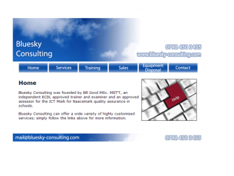 Bluesky-Consulting Website Design – July 2009