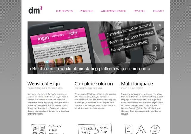 dmCubed Website Design – October 2011