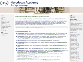 Herodotus Third Age Academy Website Design – February 2010