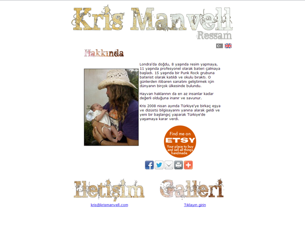 Kris Manvell Website Design – July 2009
