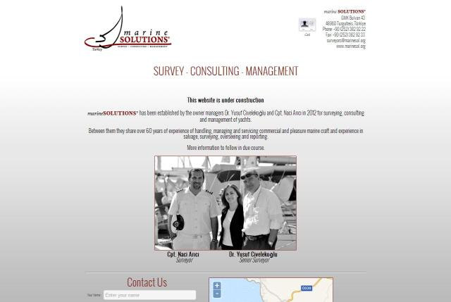 marineSOLUTIONS Holding Page Design – June 2012