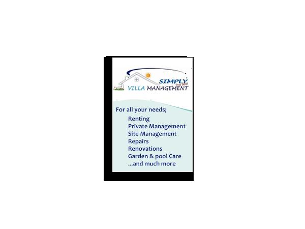 Simply Villa Management Banner Advert – April 2012