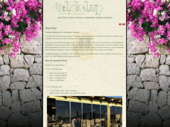 Teldolap Restaurant Website Design – March 2010