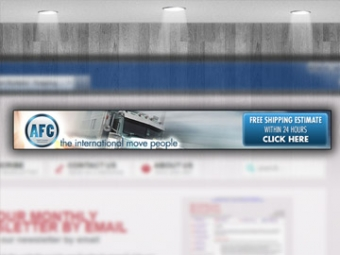 AFC Freight Forwarders Web Banner Design – Feburary 2013