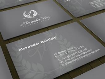 Alexander Voss Business Card Design – July 2013