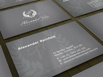 Alexander Voss Business Card Design – July 2013