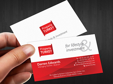 Property Turkey Business Card Design – September 2013